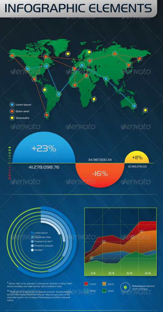 18 infographic psd template images