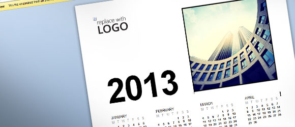 Free Microsoft Word Calendar Template 2013
