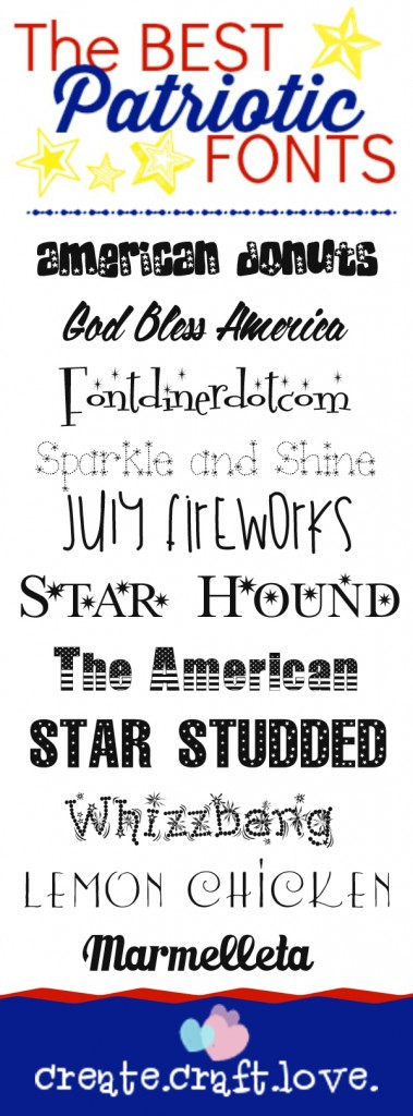 12 Best Free Fonts Patriotic Images