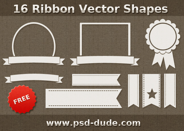 14 Photoshop Ribbon Vector Images