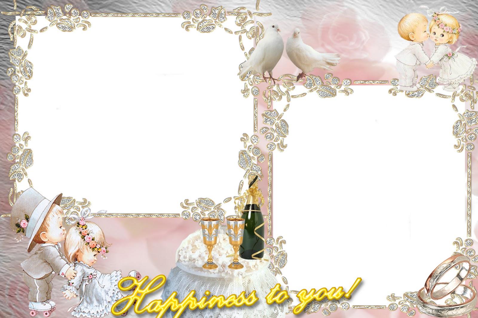 Более 410 бесплатных свадебных рамок для онлайн фотомонтажа