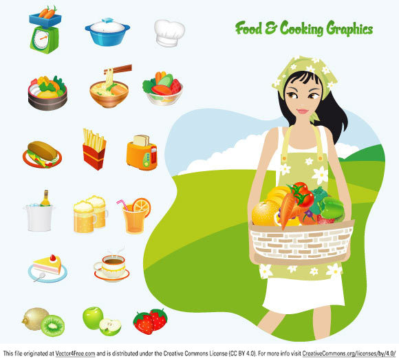 16 Vector Food Cooking Images