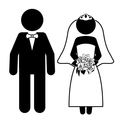 Funny Bride and Groom Clip Art