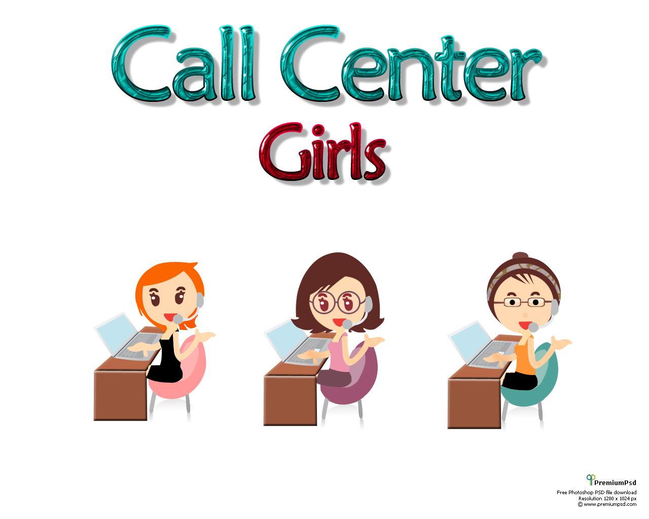 Girl Call Center Icon
