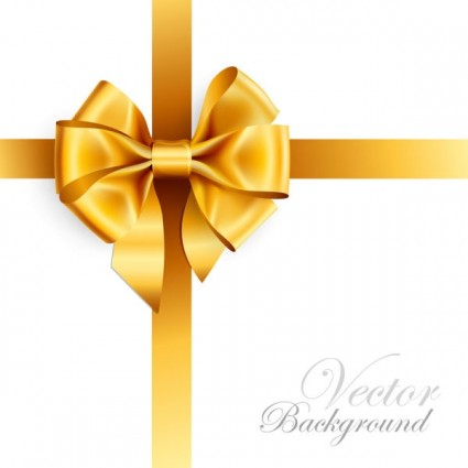 Gold Ribbon Bow Vector