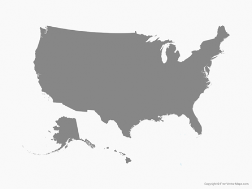 Graphic of United States America Map