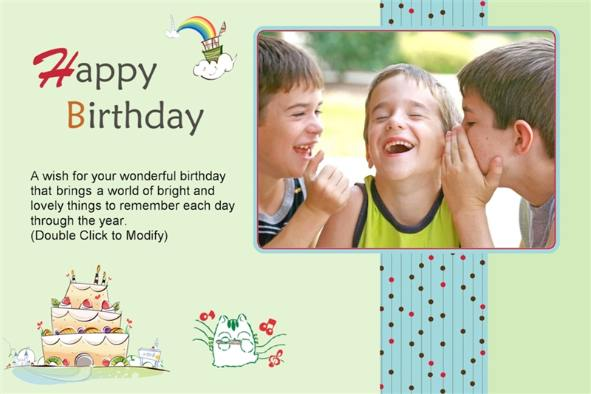 Happy Birthday Photoshop Template