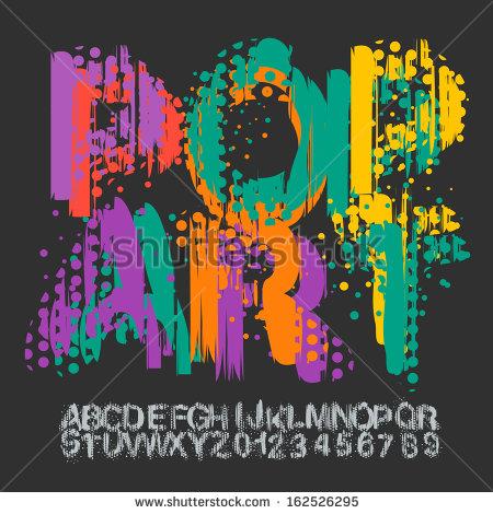 Illustration Pop Art Font
