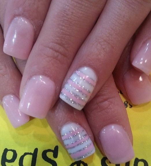 Light-Pink Nail Art Design