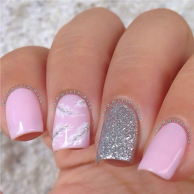 13 Light-Pink Nail Designs Images