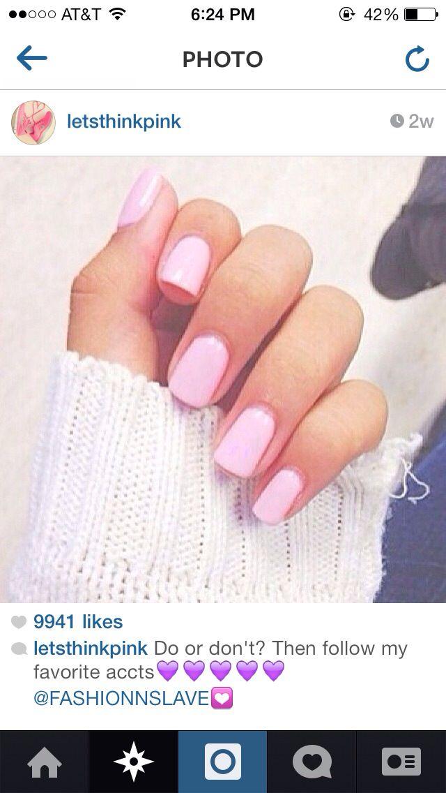 Light-Pink Nail Polish
