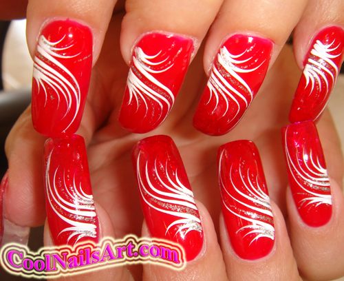 14 Line Nail Designs Images