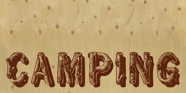 Log Wood Font Letters