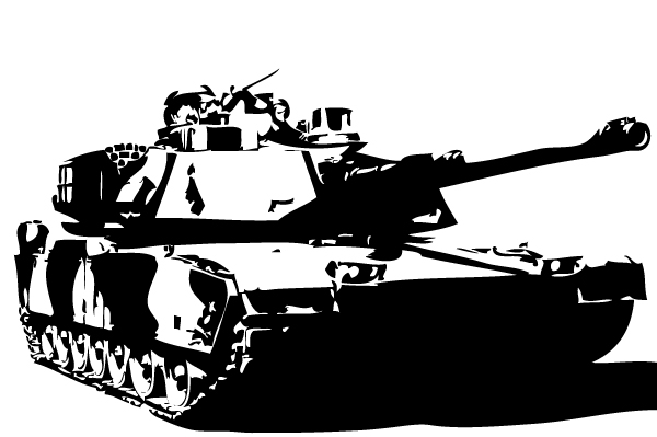 M1 Abrams Tank Vector