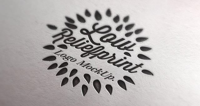 Mock Up PSD Logo Template