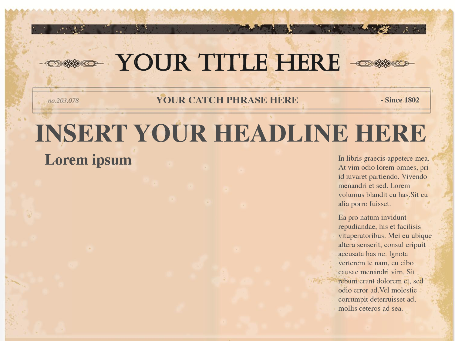 Newspaper Article Template Word on Lined Paper Layout