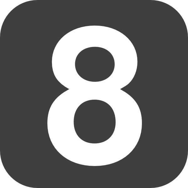 17 Blue Number 8 Icon Images