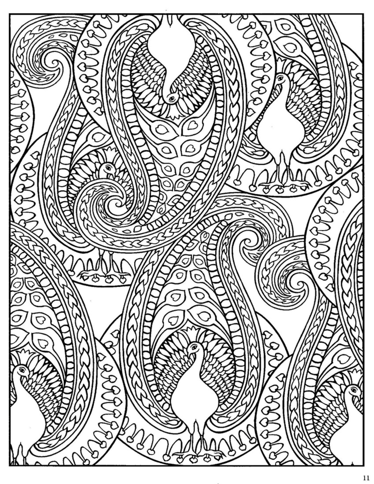 17 Paisley Designs To Color Images - Paisley Designs Coloring Book ...
