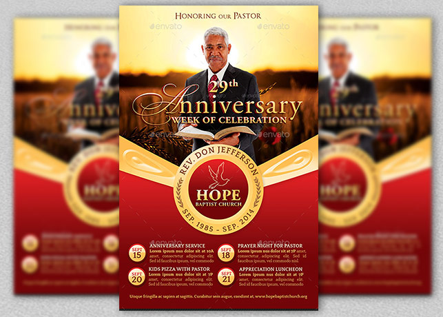 free pastor anniversary program templates - Romeo.landinez.co