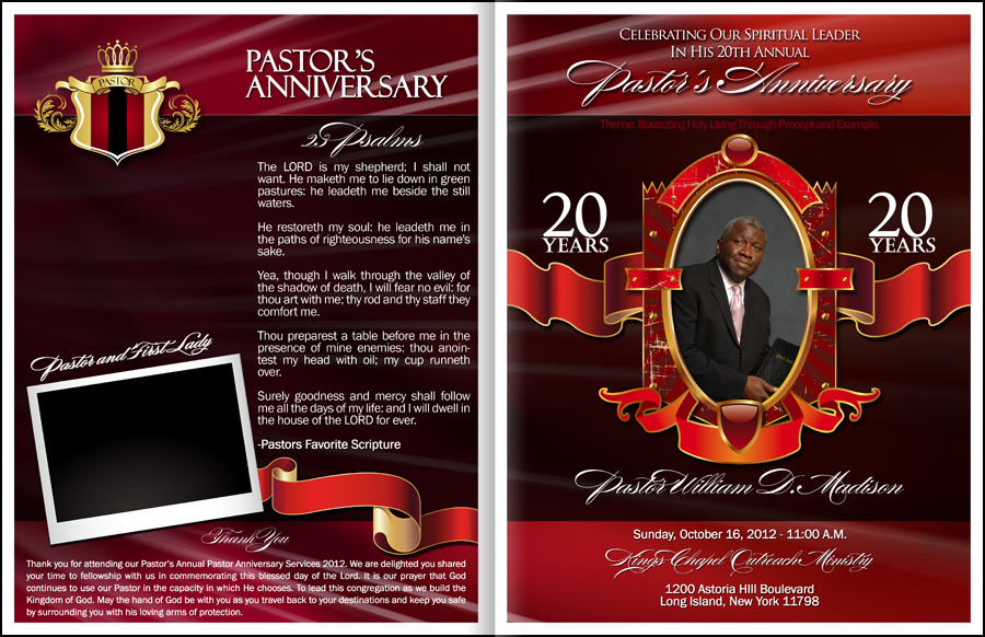 Pastor Anniversary Program Template
