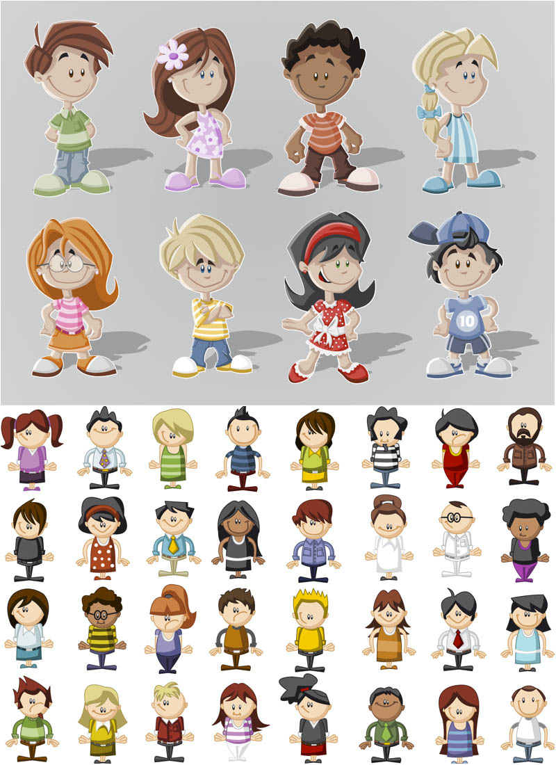 People Clip Art Cartoon Characters