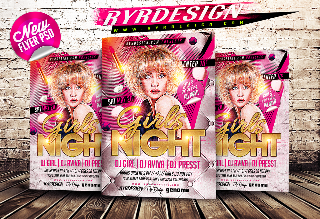 18 Party Flyers PSD Models Images