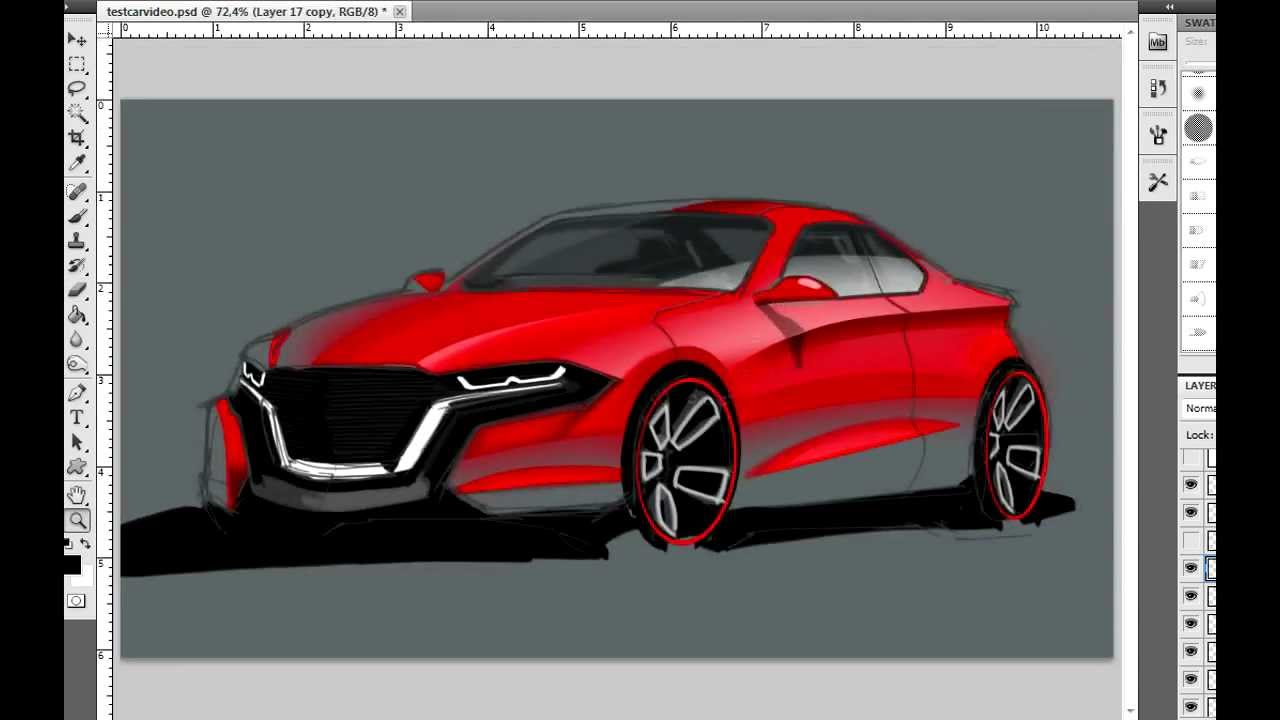 Photoshop Car Rendering