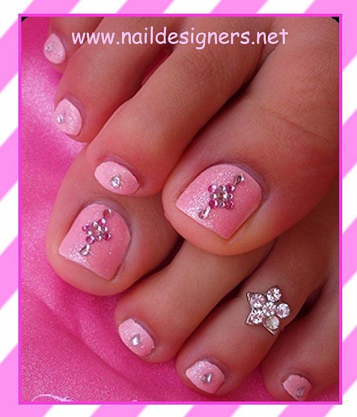 Pink Toe Nail Designs