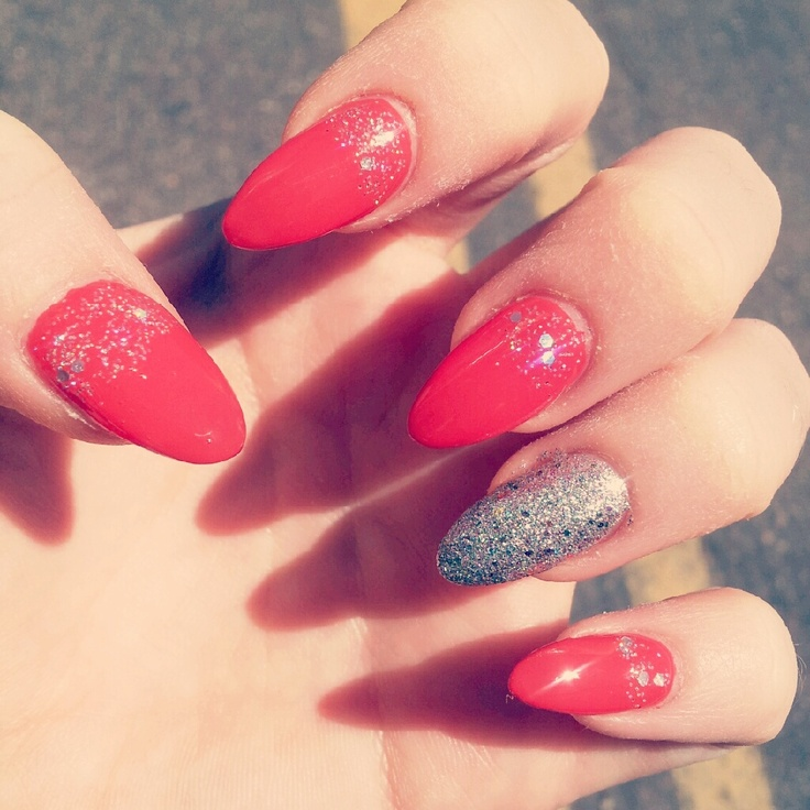 Pointed Acrylic Nail Designs
