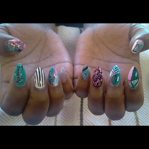 13 Pointy Nail Designs 2013 Images