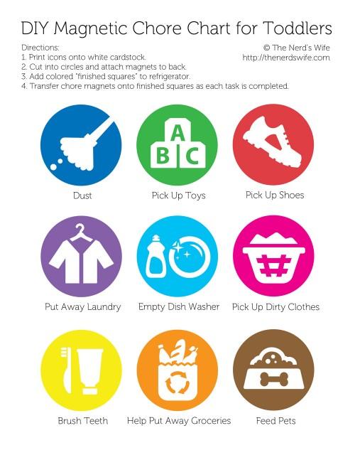 Printable Chore Chart Icons