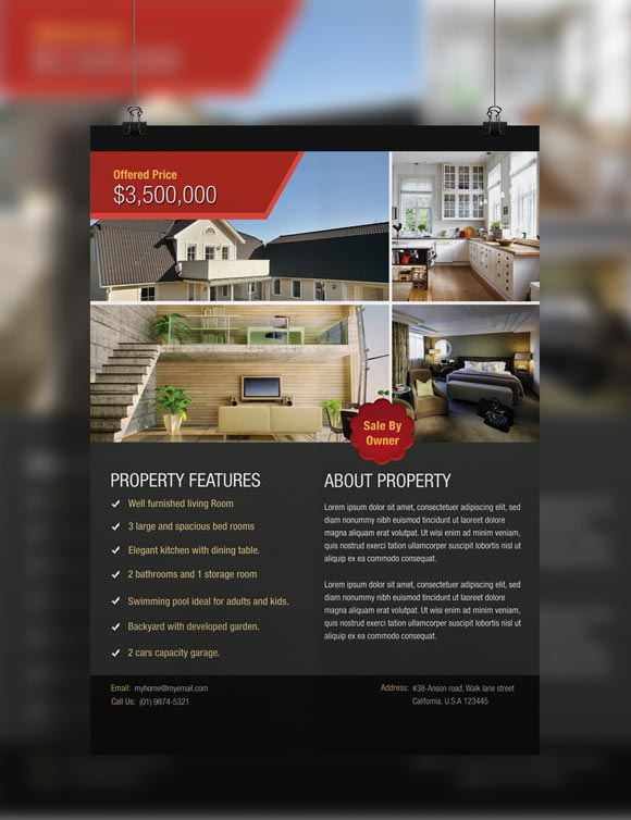 9 home for rent flyer free psd images free real estate brochure