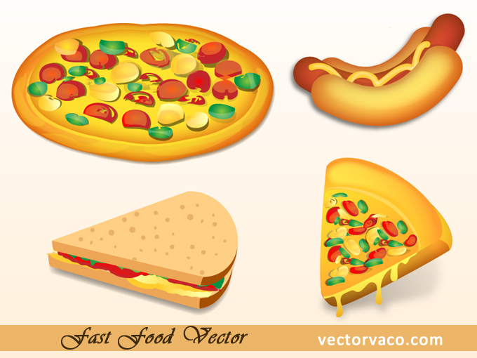 10 Fast Food Vector Images