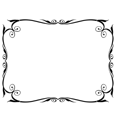 19 simple frames and borders vector images free vector