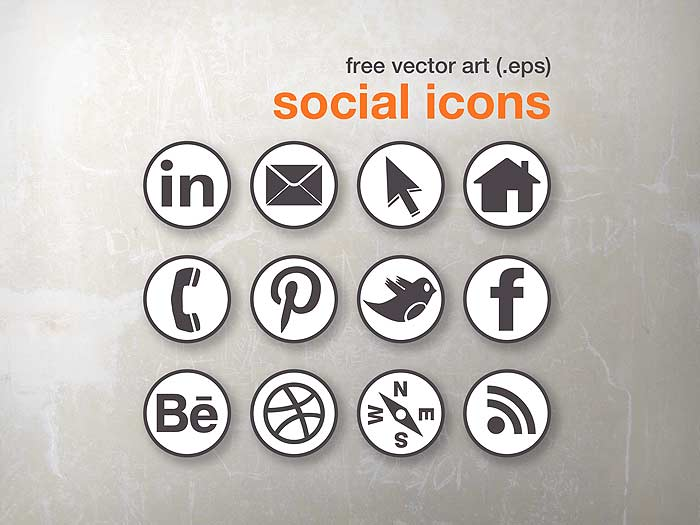 Social Media Icons Vector Art Free
