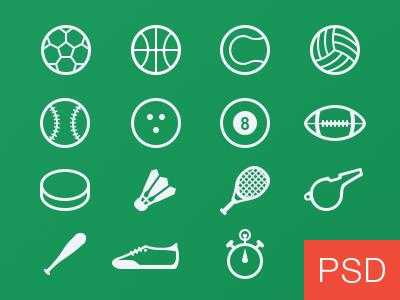 12 Sports Vector PSD Images
