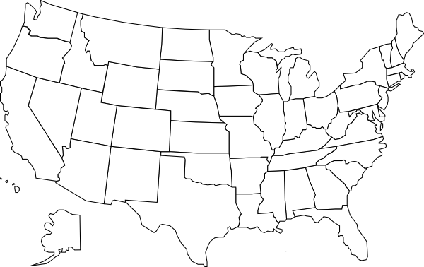 United States Map Clip Art