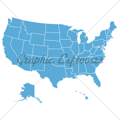 United States Map Vector Graphic