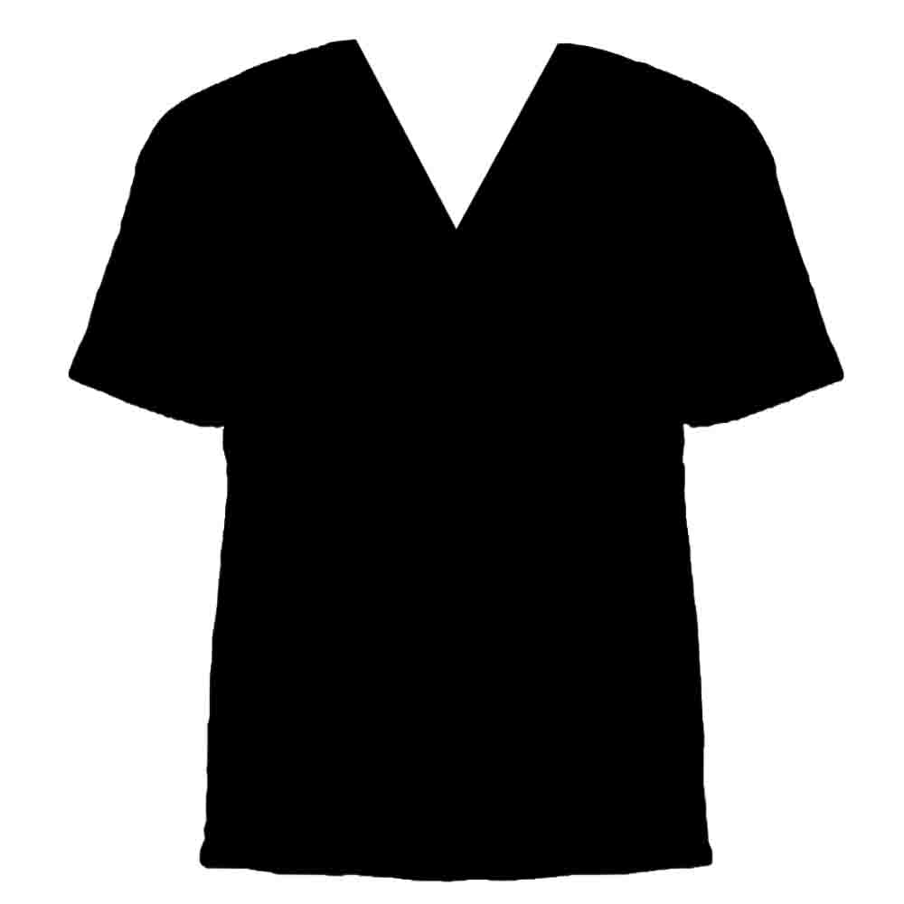 6 V-Neck T-Shirt Template Images