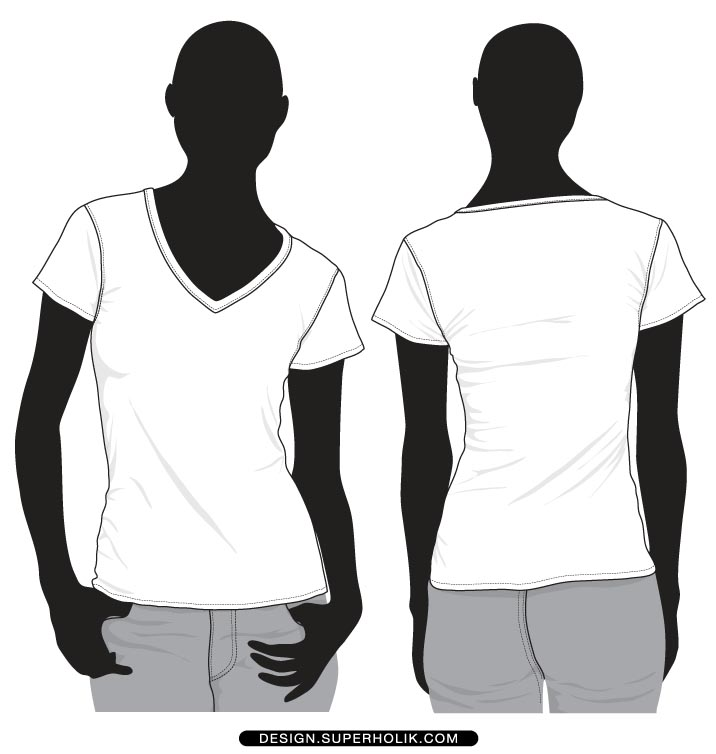black v neck t shirt template - photo #26