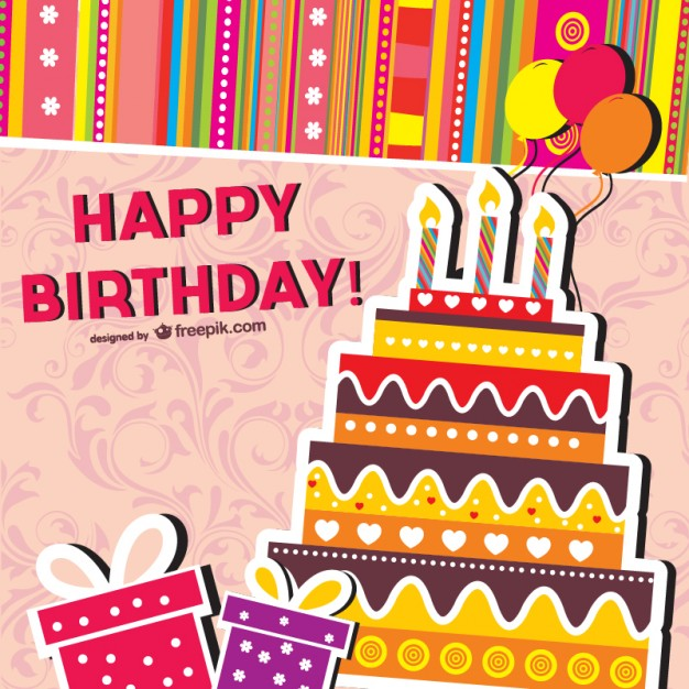 Vector Birthday Card