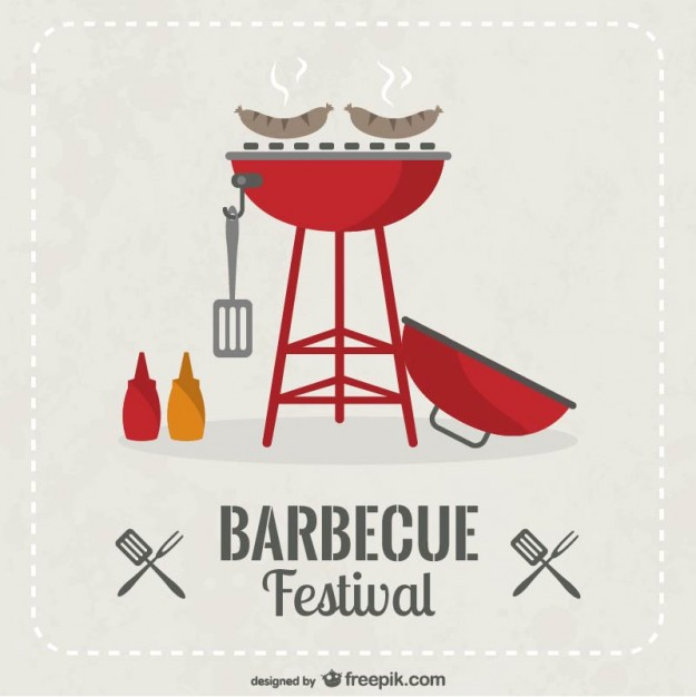 Vector Free BBQ Invitation