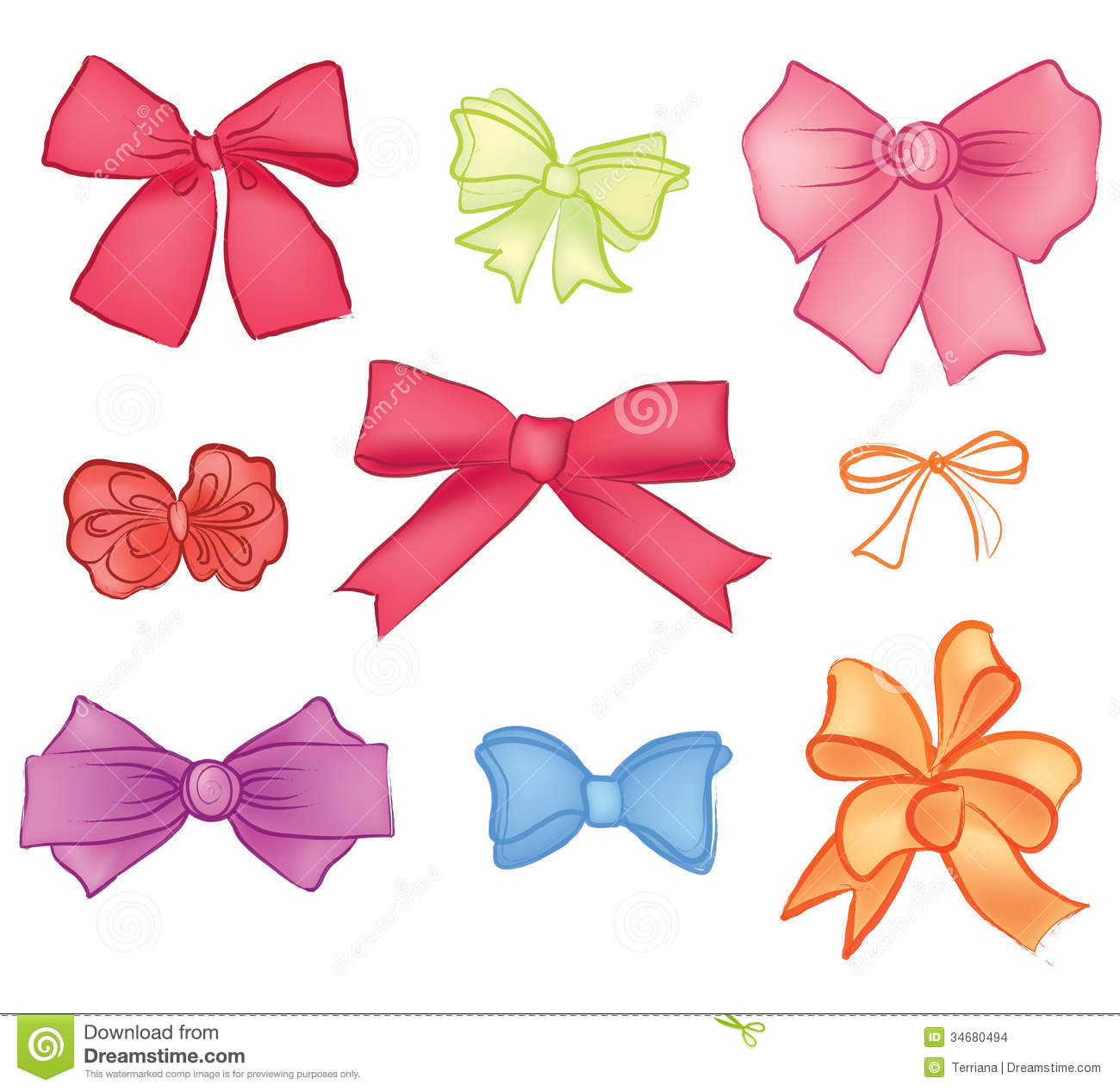 Vector Gift Bow Ribbon
