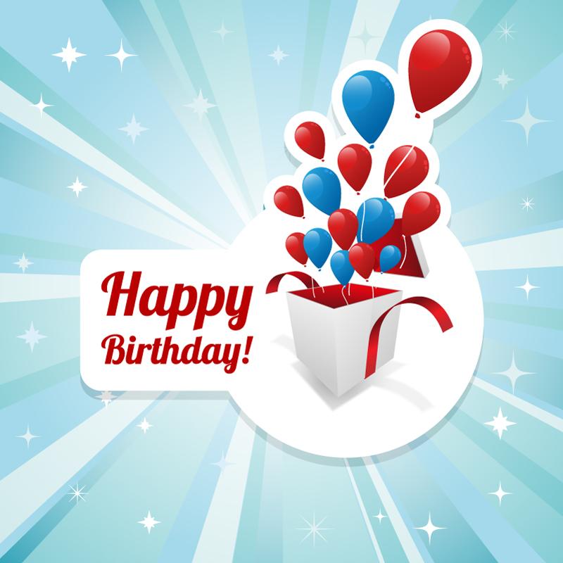 Vector Happy Birthday Gift