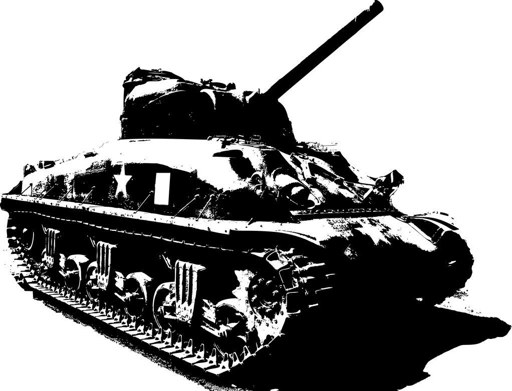 Vector Sherman Tank