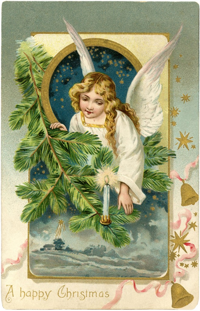 15 Angel Vintage Christmas Graphics Images