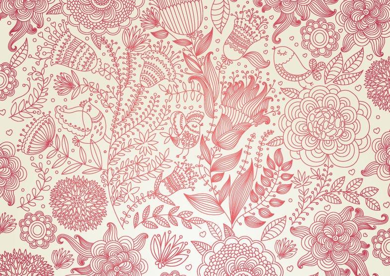 19 Vintage Floral Background Vector Images