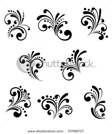 Wedding Cake Scroll Design Template