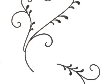 Wedding Cake Scroll Pattern Template