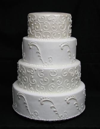 Wedding Cakes with Scroll Designs